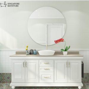 Bordeaux Round Bathroom Mirror Singapore SingaporeBathtubs SingaporeBathroomAccessories