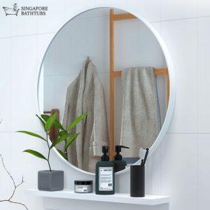Lyon Round Bathroom Mirror Singapore SingaporeBathtubs SingaporeBathroomAccessories