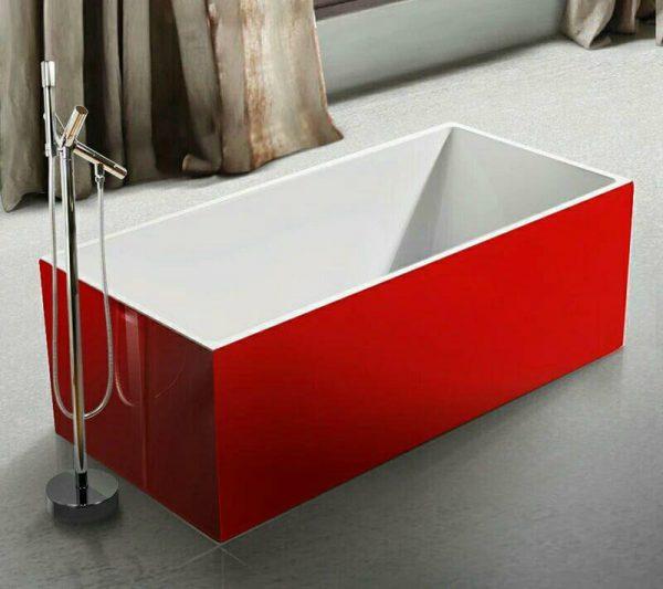 Beatrix Prestige Red Standalone Bathtub